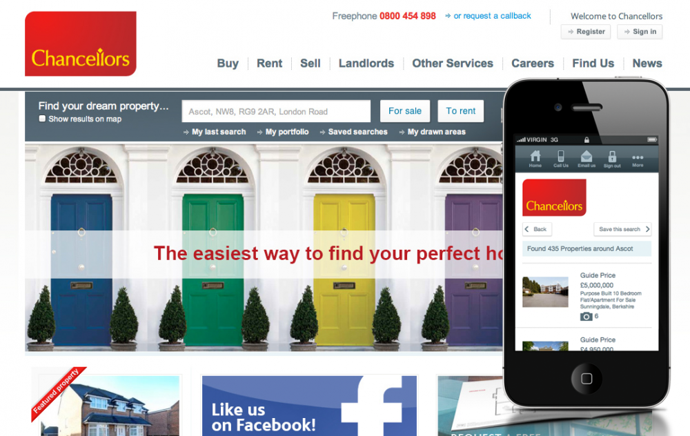 Use the mouse to find that house with iWeb expertise