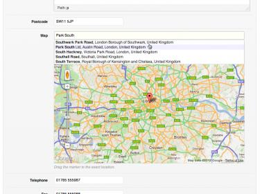 CMB Field Type: Google Maps