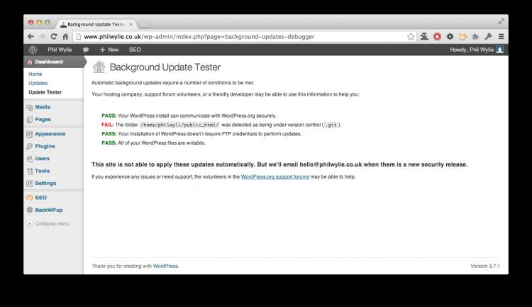 Background Update Tester