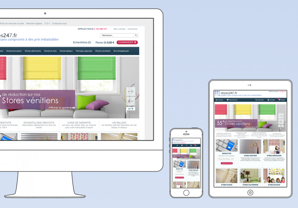 247 Blinds goes global and responsive
