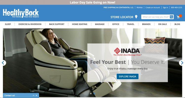 healthyback.com | websites using Magento 2