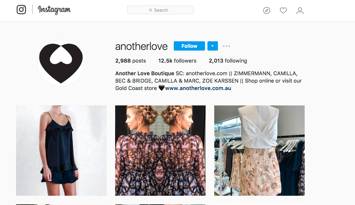 Image result for fashion shop instagram