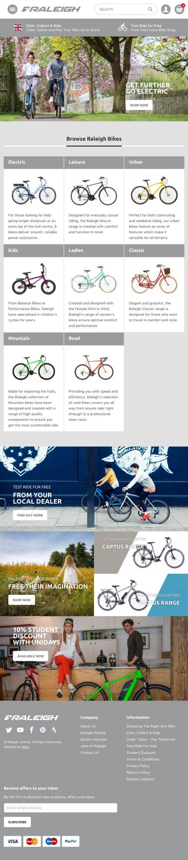Raleigh Website | iWeb