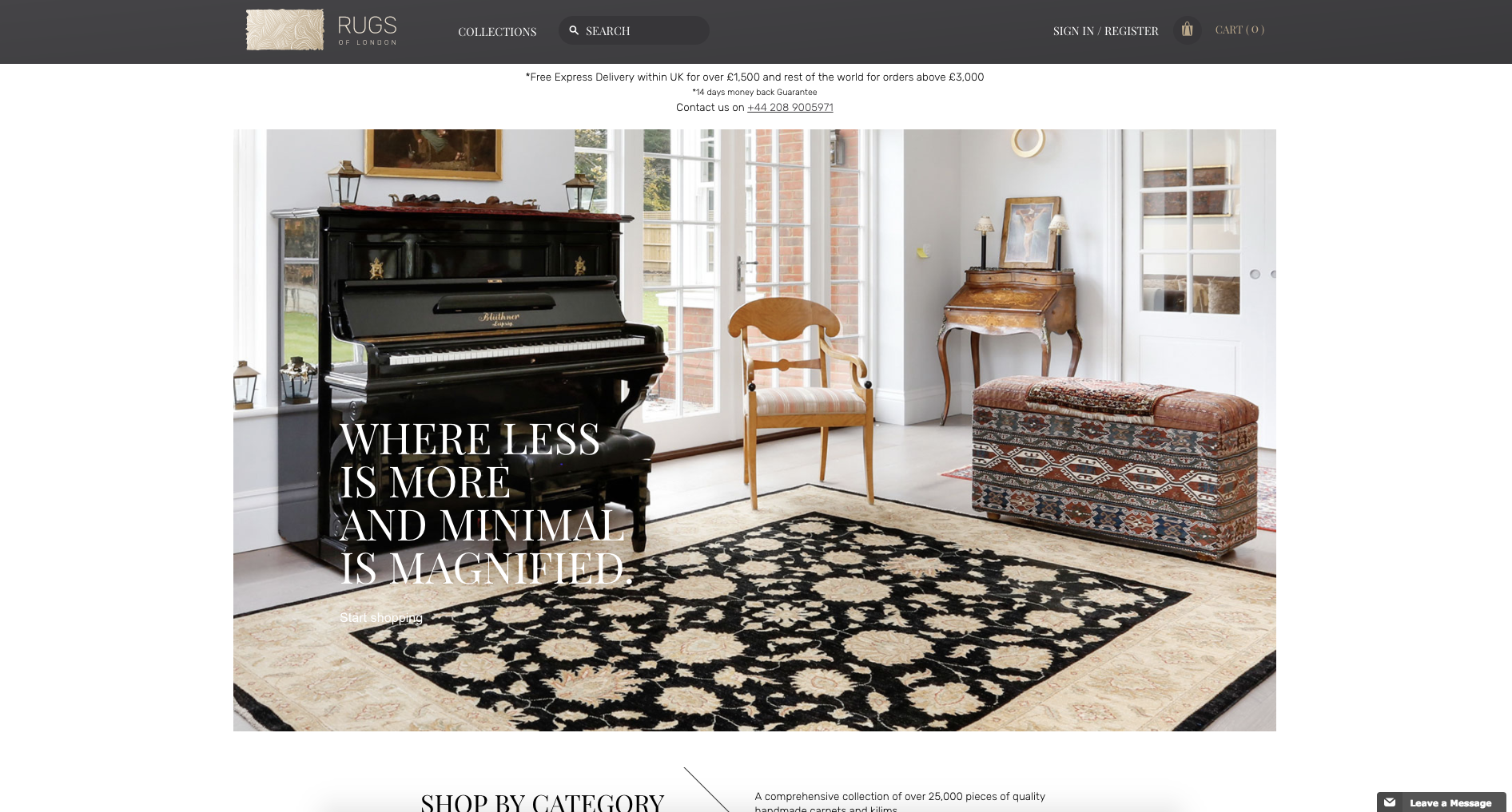 Website Creation | Rugs of London