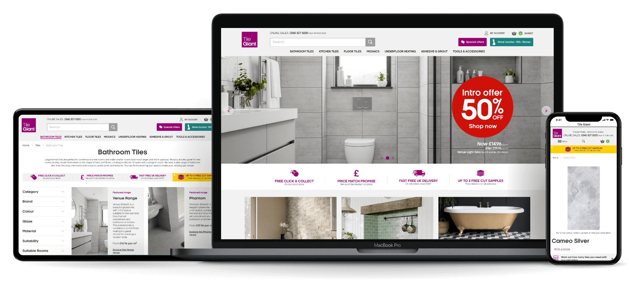 Tile Giant | Our Work | iWeb Experts in Commerce