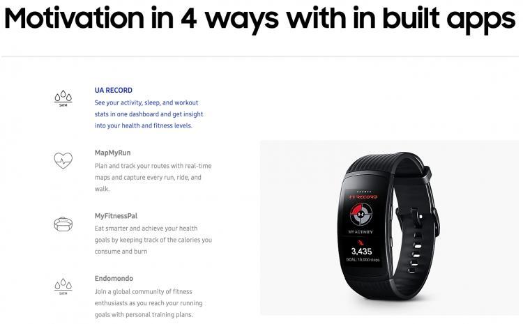 Samsung Gear Fit2 Pro App | iWeb