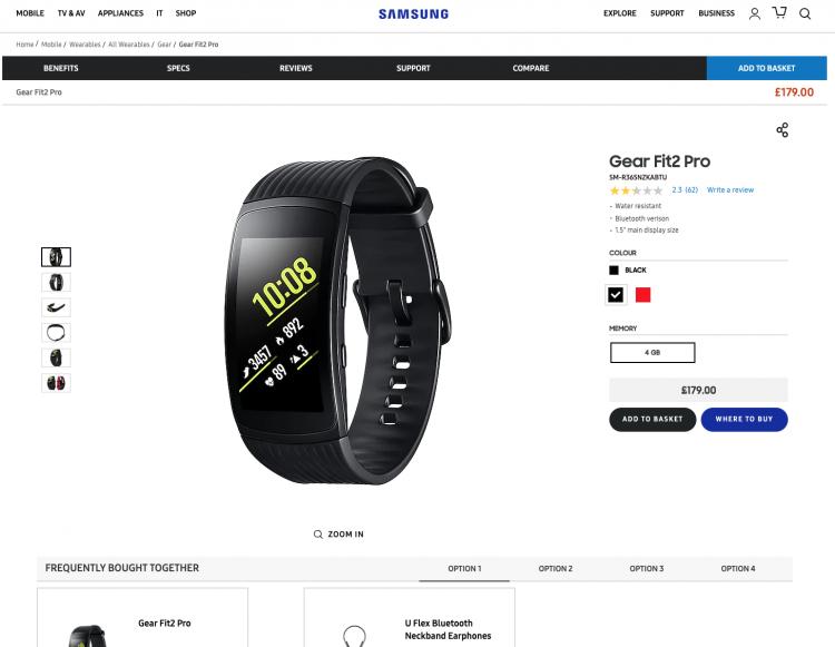 Samsung website design | iWeb