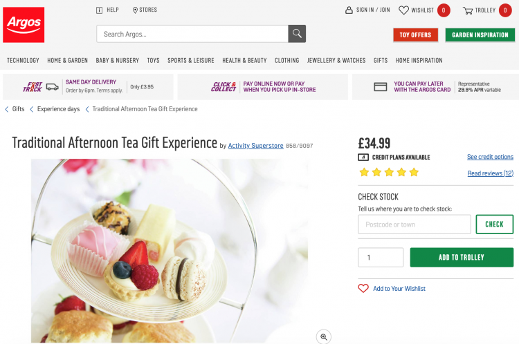 Product Page Example Desktop | iWeb