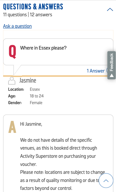 Questions and Answers Mobile View | iWeb