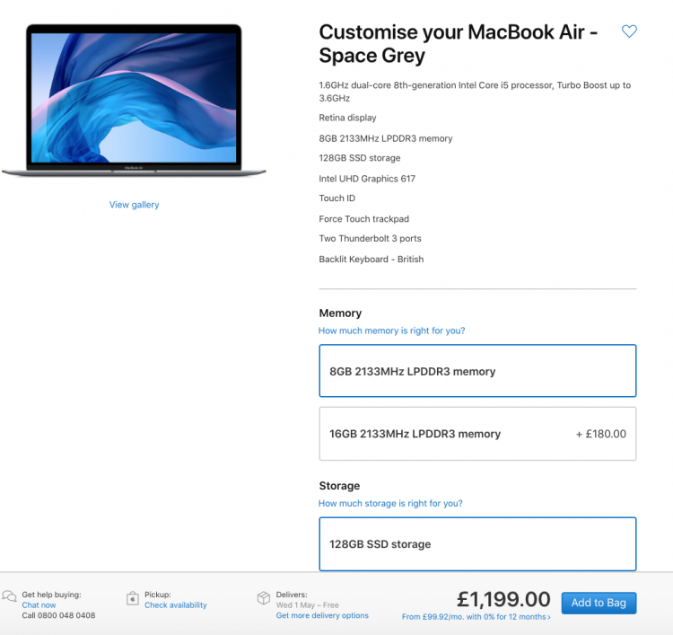 MacBook Air Product Page | iWeb
