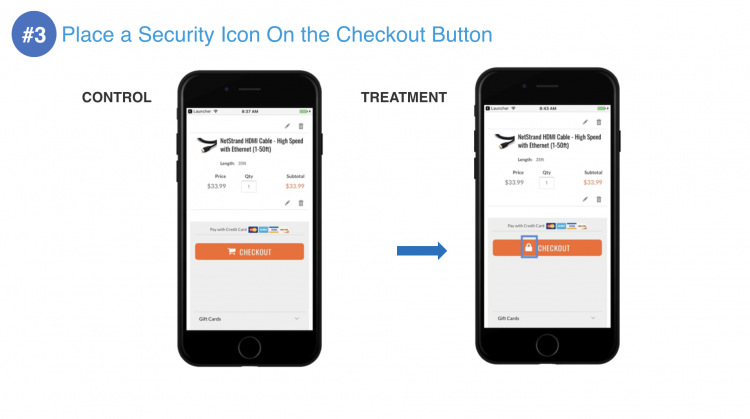 PayPal Security Icon on Checkout Button | iWeb Live 2019