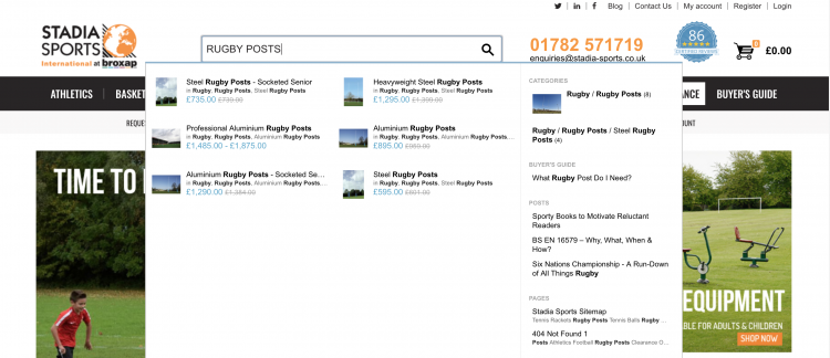Stadia Sports   iWeb Site Search